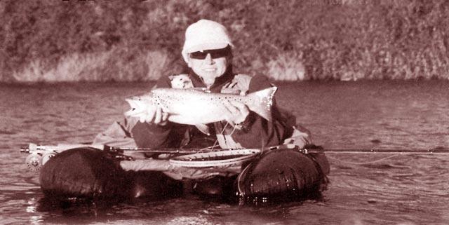 Float Tube Fishing. Enjoy your fishing (Lake Aniwhenua, in New Zealand's North Island.
