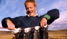 Joe Bennet with his four fish from Lake Alex.