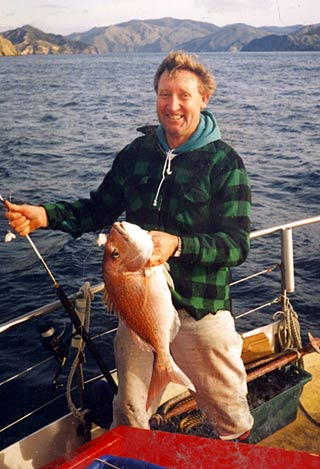 A nice snapper caught aboard M.V. Elusive near D'Urville Island.