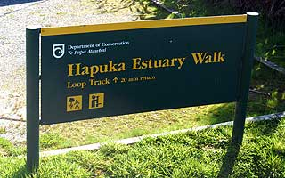 Hapuka Estuary Walkway. The entrance and carpark are off South Turnbull Road.