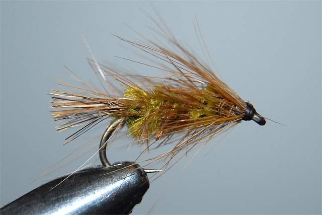 McDonald Mudeye Dragonfly Nymph, green version. This is an easy fly for the beginner. Remember, it doesn't have to be perfect to catch fish. Stillwater brownies.