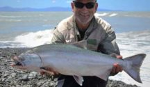 Dave's salmon was in great condition, Its good to see the salmon in better condition this season.