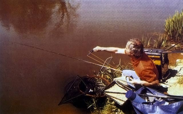 A well set-up coarse angler. Float Fishing.