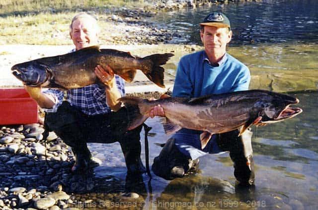 John and Merv: Easter 1998. Salmon Fever.