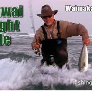 Fishing for kahawai on light tackle.