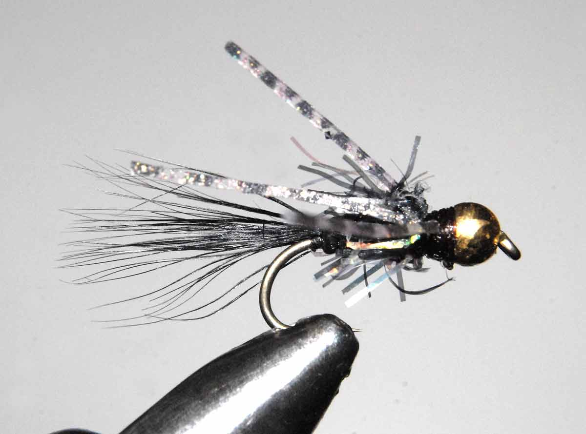 The Tungsten Bead Head Attractor Nymph with a gold head variation.