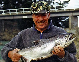 A salmon taken in the Waiau River.