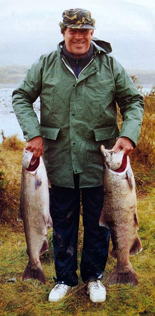 A brace of salmon taken on a great day at the Rangitata River. Finding Salmon - The Hunt for Houdini.