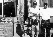 Neil Bond and Keith Chin with the striped marlin.