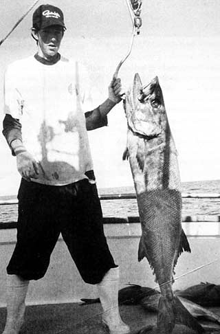 Allister McColl with a huge Oilfish. White Island.