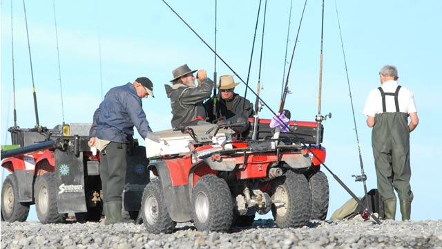 Salmon Fishers at the Rakaia River.
