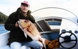 Ben Grady with his first snapper.