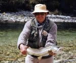 Murray with a beautiful back country brown trout.