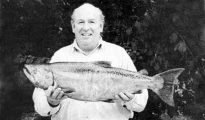 Monty Wright and his 12.5lb salmon from the Clutha River near Millars Flat.