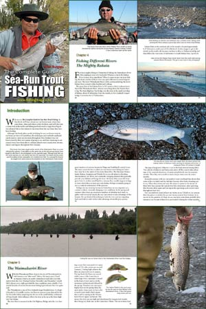 Nine pages from The Complete Guide to Sea-Run Trout Fishing
