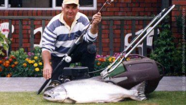 Massive 35lb salmon from the Waimakariri River.