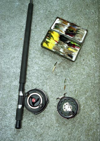 Right: Shimano Moocher Plus 2000 GT is also popular for use with the Canterbury Lure Rod.