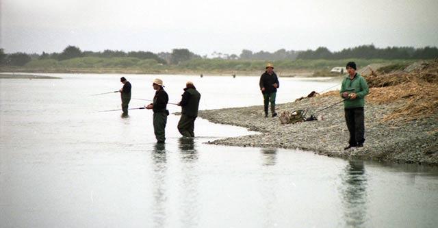 View across the Rangitata River lagoon.