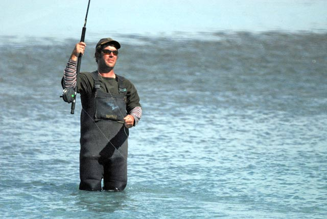 The Canterbury Lure Rod is a unique local innovation. It is designed to get the lures down quickly to fishing depth in fast water. The method maximizes the time the lures are in the strike zone. It works great for sea-run brown trout, salmon and kahawai.