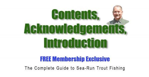 Sea-Run-Contents,- Acknowledgements