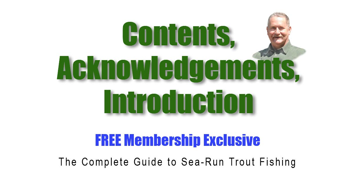 Sea-Run-Contents,- Acknowledgements