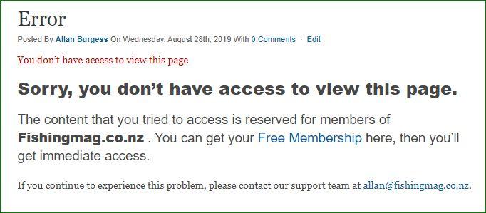 Non-Members Error