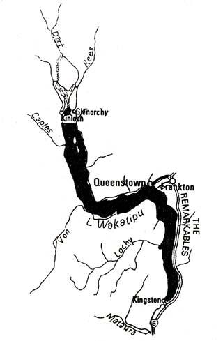 Glenorchy map. The Anglers' Eldorado