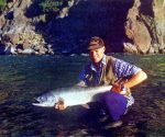 A nice salmon from above Jack's Pass. Hurunui River Secrets.
