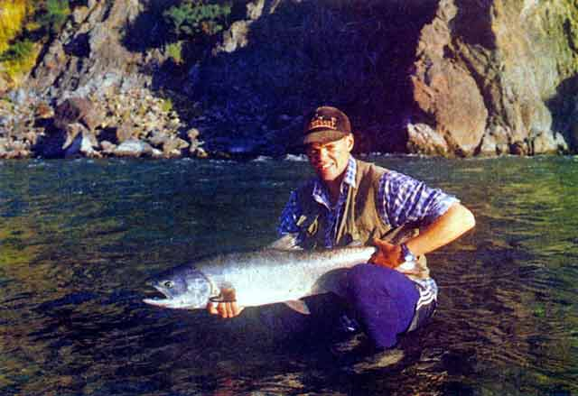 Hurunui River Secrest. A nice salmon from above Jack's Pass.