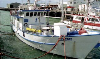 Takaroa II at Bluff Harbour.