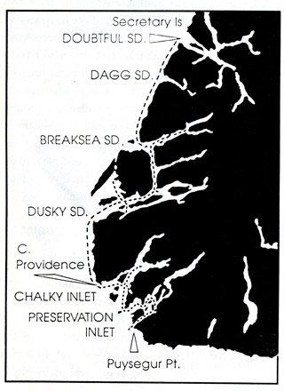 Fiordland map.