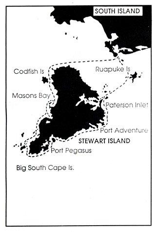 Stewart Island map.