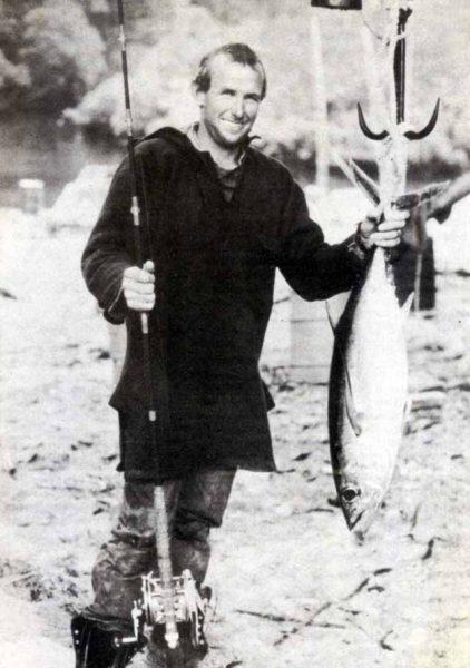 John Beetle with fine Fiordland albacore.