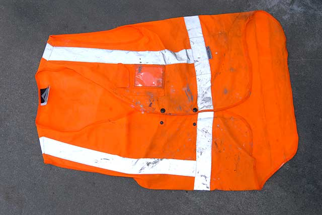 This old Hi-viz vest has plenty of life left in it's cloth reflector tape.