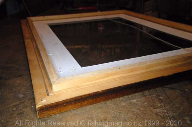 Shadow-box with mat-board in place.