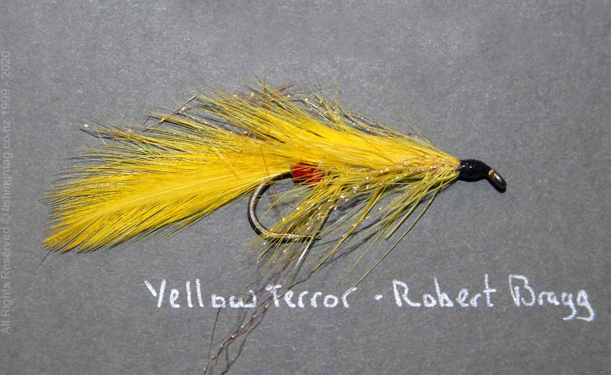 Yellow Terror salmon fly.