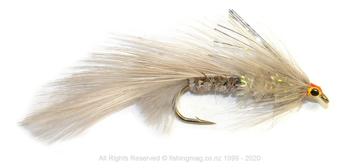 Rangitata Ghost was the proprietary name used for this fly produced by Tight Lines, Napier, N.Z.
