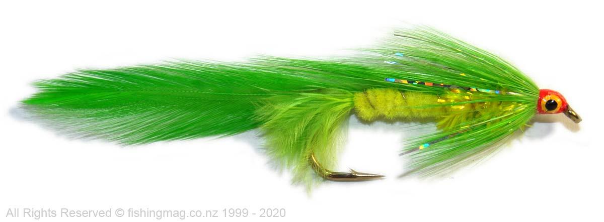Waitaki Warrior feathered lure, lure or streamer fly. Salmon Flies.