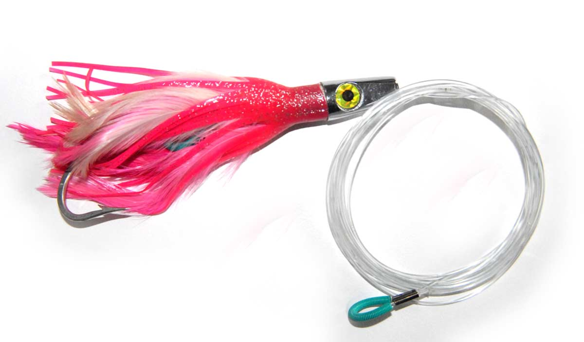 Feather jigs can be trolled at higher speeds.