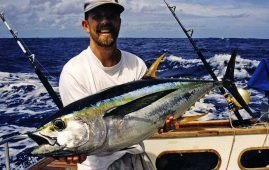 Yellowfin Tuna caught in the South Pacific near Tonga by Malcolm Bell from The Complete Angler, Christchurch, N.Z.