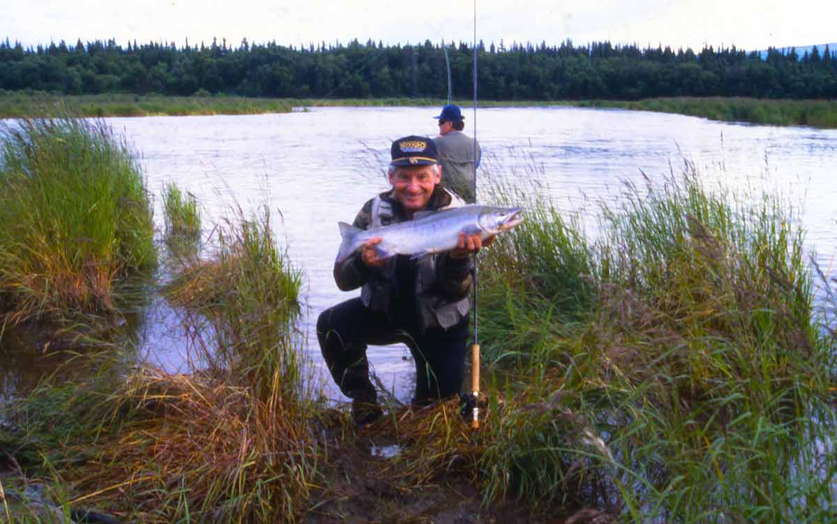 A silver salmon from Polly Creek.