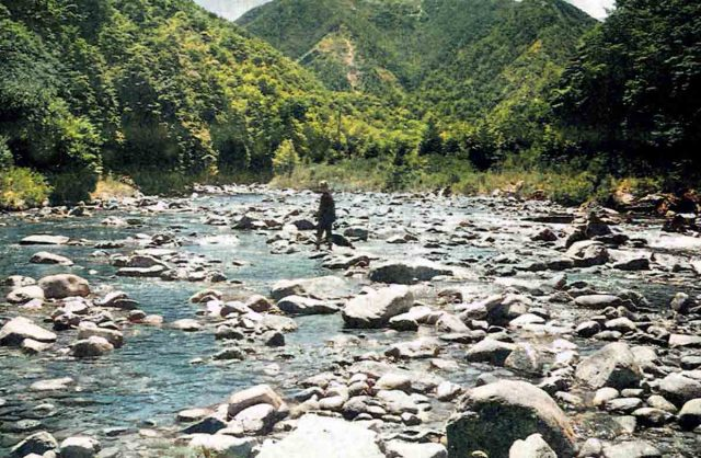 The author's son Roy on an earlier trip to the Ugly River.