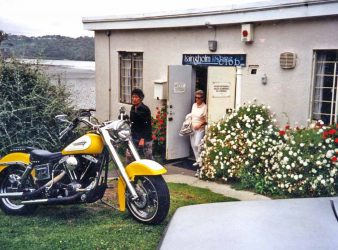 Laingholm Fishing Club. Harley Davidsons were seen outside and furtive leather clad figures were observed coming and going. Photo: Robyn Dougherty.