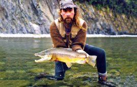 Martin with a 10. 5lb brown trout taken on a Perla Nymph.